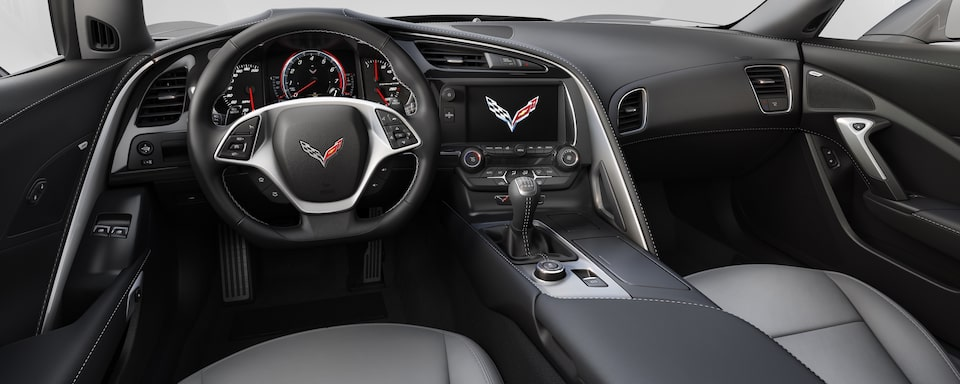 2019 Chevrolet Corvette  Sports Car Interior Dash View