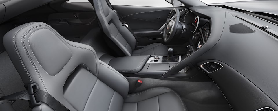 2019 Chevrolet Corvette  Sports Car Interior Front Seat View