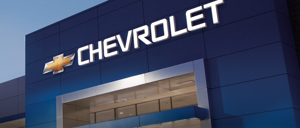 Chevrolet Dealer Front of Building