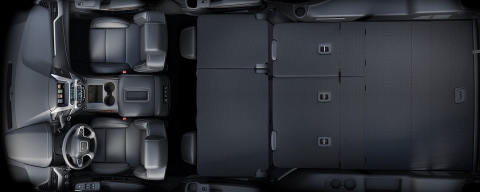 2019 GMC Yukon XL Full size SUV Interior Cargo Space Interior View
