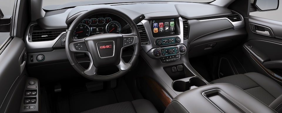 2019 GMC Yukon Full size SUV Interior Dash View