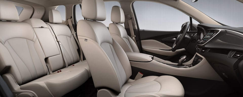 2020 Buick Envision Compact Luxury SUV Interior Rear Seat view