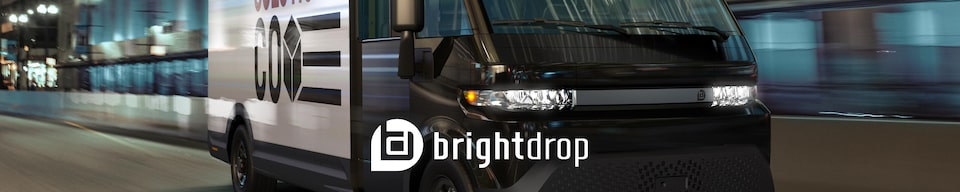 BrightDrop Electric Delivery Solutions Branding - Delivery Truck in Transit