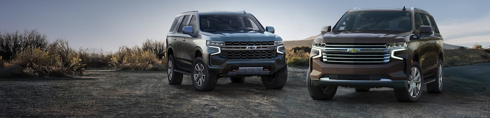 All-New 2021 Chevrolet Suburban & Tahoe Front Profile