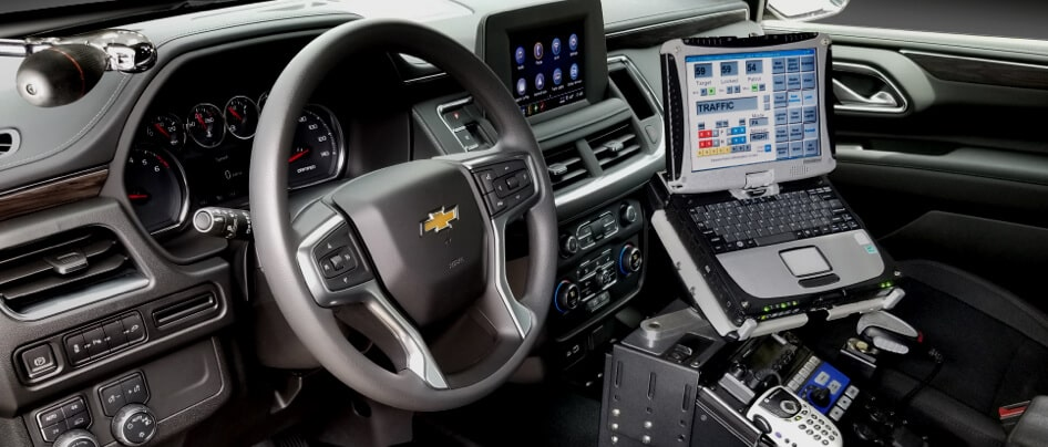 2021 Chevrolet Police interior Dashboard view