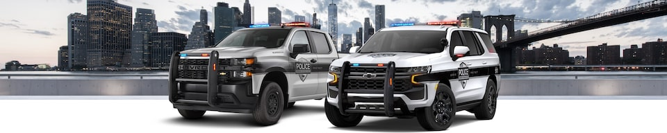 2021 GM Fleet Police Vehicle Lineup Front Side View