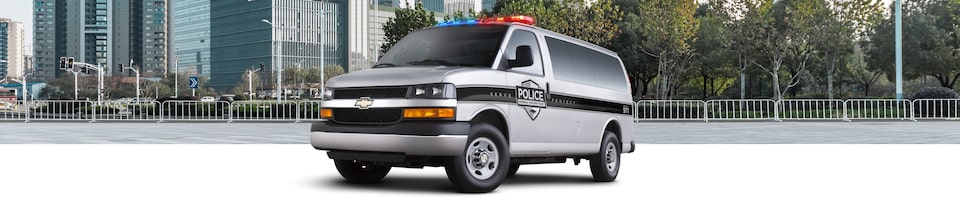 2020 Chevrolet Police Transport Van Wide Angle View
