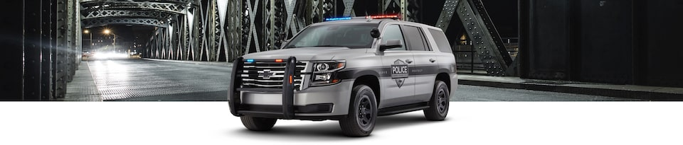 2020 Chevrolet Tahoe Police Pursuit Vehicle Front Side View