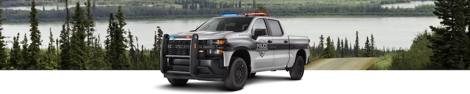2021 Chevrolet Silverado Police Special Service Vehicle Front Side View