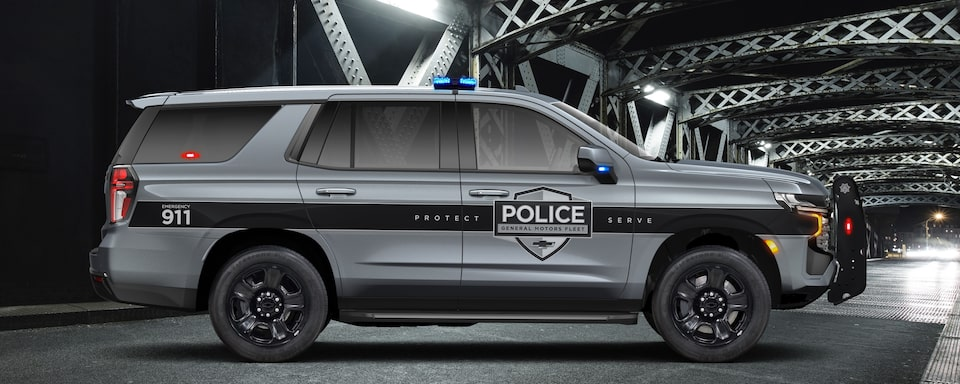 2021 Chevrolet Tahoe Police Pursuit Vehicle Exterior Side View