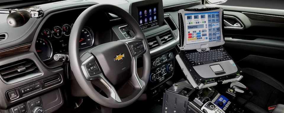 2021 Chevrolet Tahoe Police Pursuit Vehicle Interior Dash View