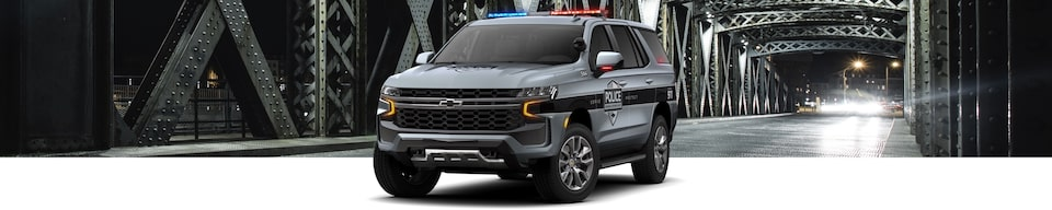 2021 Chevrolet Tahoe SSV Police SUV Front Side View