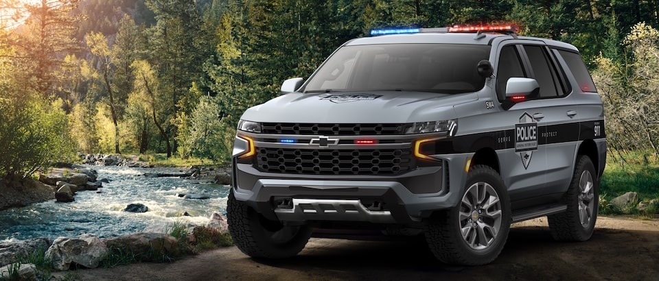 2020 Chevrolet Tahoe SSV Next to a River