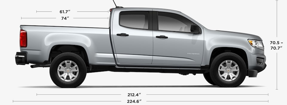 2019 Chevrolet Colorado Small Truck Crew Cab Dimensions and Specs