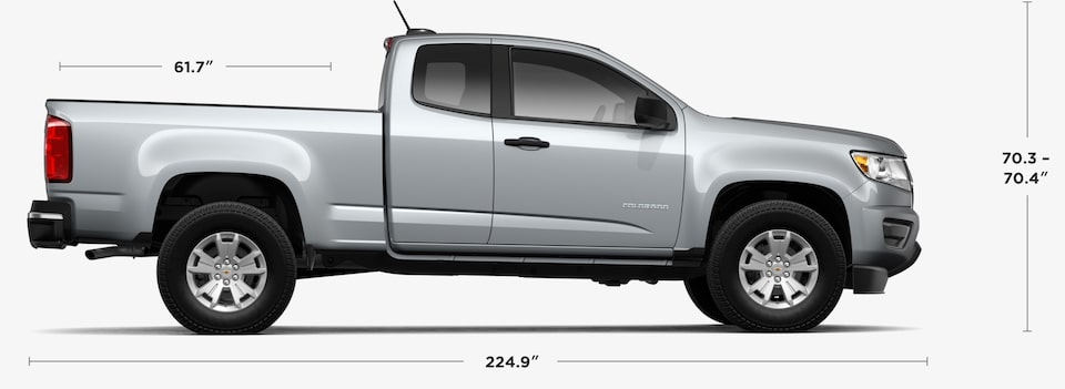 2019 Chevrolet Colorado Small Truck Extended Cab Dimensions and Specs