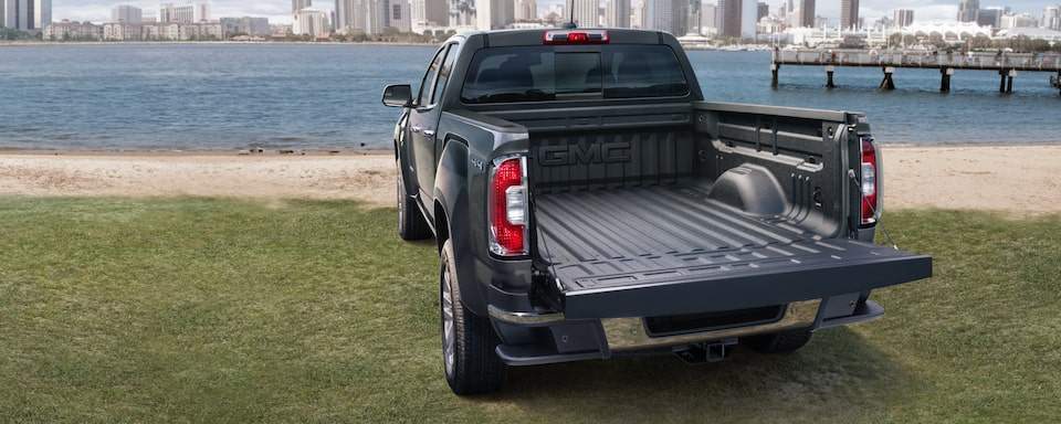 2019 GMC Canyon Small Pickup Truck Exterior Rear Tailgate View