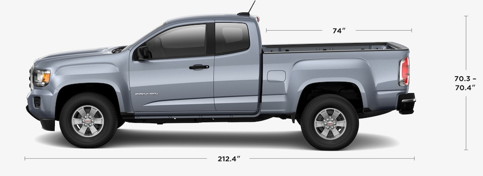 2019 GMC Canyon Small Pickup Truck Crew Cab Dimensions and Specs