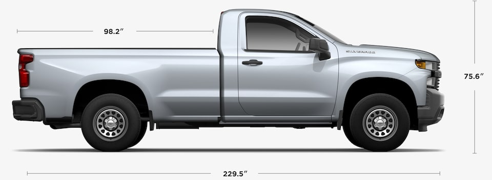 2020 Chevrolet Silverado 1500 Regular Cab Dimensions