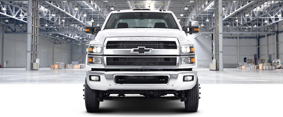 2020 Chevrolet Silverado Chassis Cab Work Truck Front Grill View in Warehouse