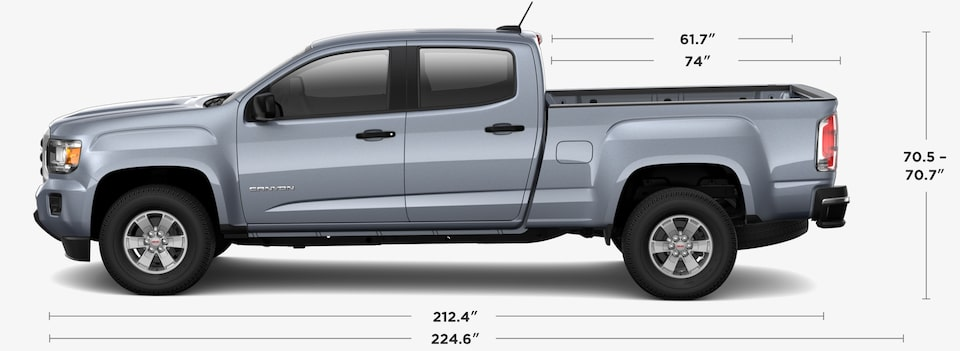 2020 GMC Canyon Crew Cab Dimensions and Specs