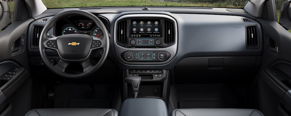 2021 Chevrolet Colorado Mid-Size Truck Interior Dashboard View