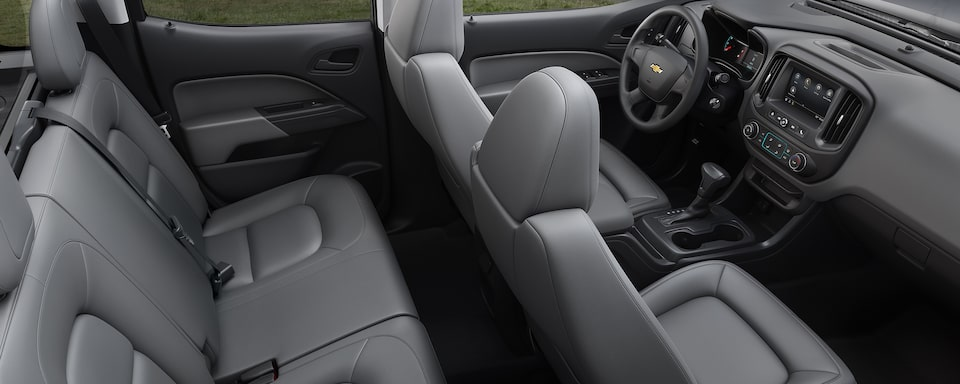 2021 Chevrolet Colorado Mid-Size Truck Interior Seating Arrangement View