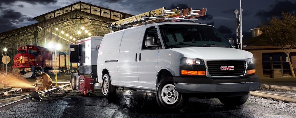 2019 GMC Savana Cargo Work Van Exterior Front Side View