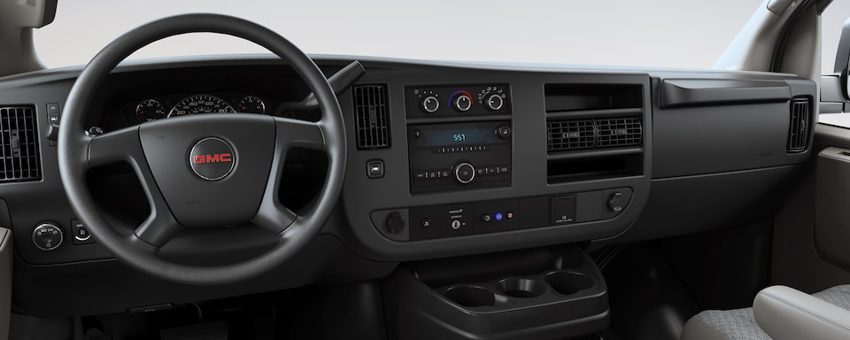 2019 GMC Savana Cargo Van Interior Dash View