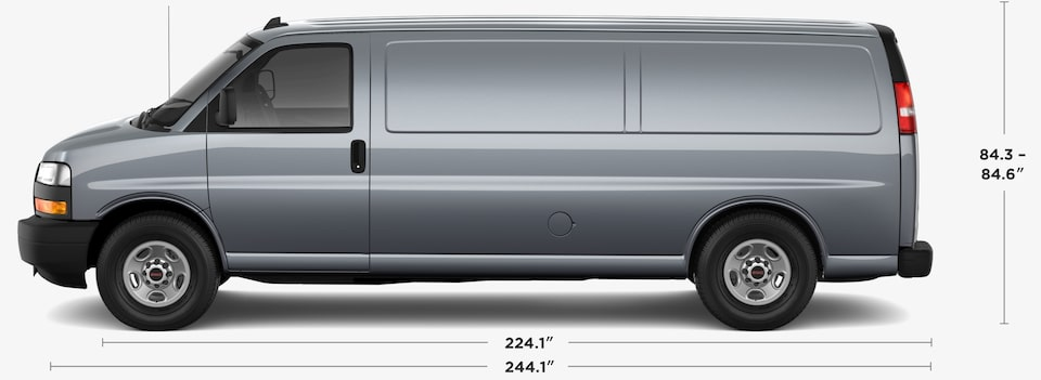 2019 GMC Savana 2500 Cargo Van Dimensions and Specs