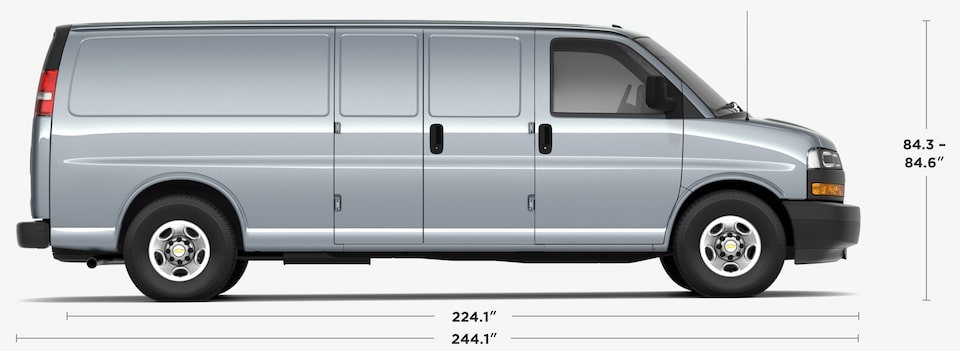 2020 Chevrolet Express 3500 Cargo Van Dimensions and Specs