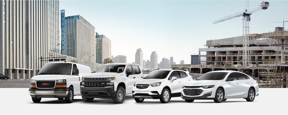 GM Fleet Extensive Vehicle Portfolio from Chevrolet, GMC, Cadillac, and Buick